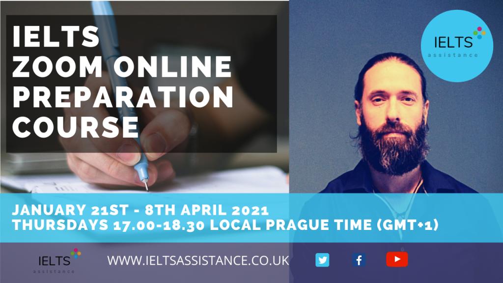IELTS Zoom Online Prepration course January - April 2021